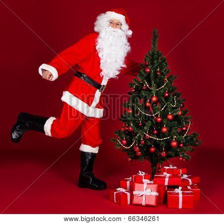 Santa And Cristmas Treee