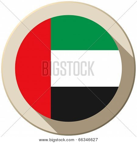 United Arab Emirates Flag Button Icon Modern