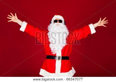 Portrait Of Excited Santa