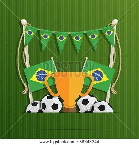 Brazil Football Decoration