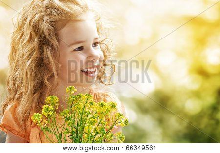child enjoys a sunny day
