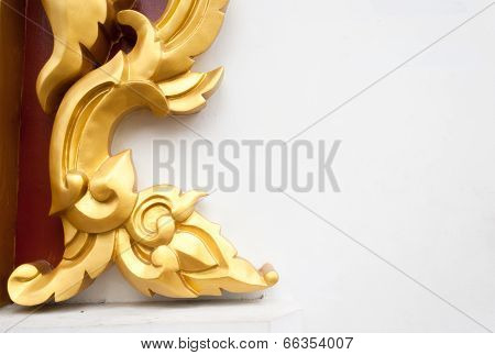 abstract golden lai Thai style art background pattern