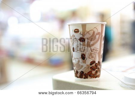 SHENZHEN, CHINA-APRIL 01: coffee cup in cafe on the famous Dongmen Pedestrian Street on April 01, 2013 in Shenzhen, China. This city is regarded as one of the most successful Special Economic Zones.