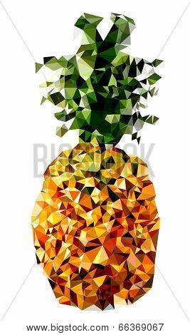 Polygonal Pineapple Fruit Illustration