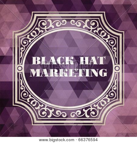 BlackHat Marketing Concept. Purple Vintage design.