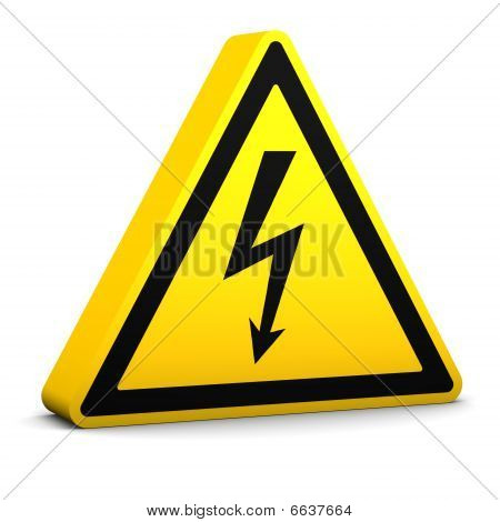 Electric Hazard Sign