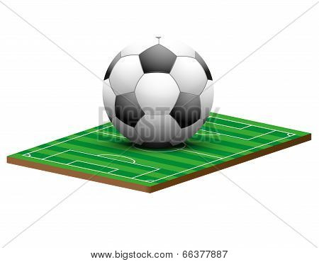 Symbol of a football or soccer game and field.