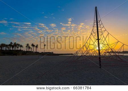 Javea Xabia El Arenal beach sunrise in Mediterranean Alicante Spain