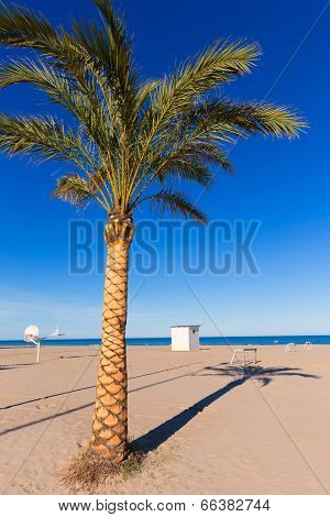 Gandia beach playa nord in Valencia at Mediterranean Spain