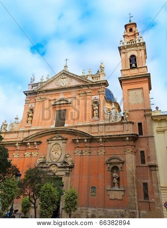 Valencia Santo Tomas church in plaza san Vicente Ferrer at Spain