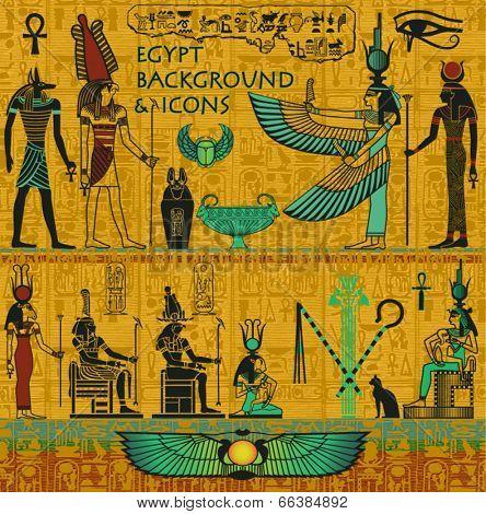 Set of Ancient Egyptian Deities