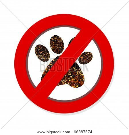 Interdiction Paw  Symbol Sign