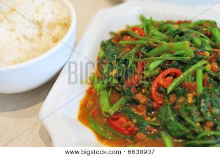 Suntuoso estilo chinês de legumes picante