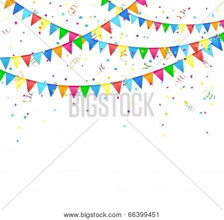Festive background with flags