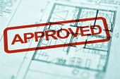 stock photo of spatial  - close up of spatial planning blueprint architecture background - JPG
