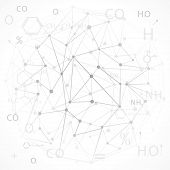 image of hexagon pattern  - chemical abstract white background science - JPG