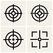 stock photo of crosshair  - crosshair icons set four items - JPG