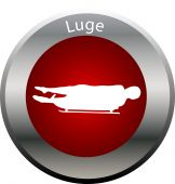 stock photo of luge  - illustration of a winter game button luge - JPG