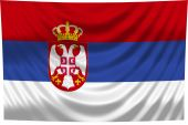 National Flag Serbia poster