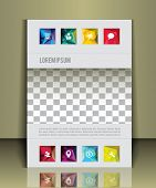 pic of placeholder  - Vector  business brochure or magazine cover  template - JPG