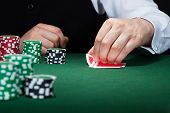 image of poker hand  - Close - JPG