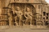 stock photo of grotto  - The Guardian of Longmen Grottoes - JPG