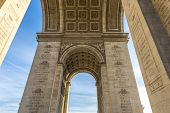 image of charles de gaulle  - Underneath the Arc de Triomphe in Paris France - JPG