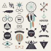 image of dream-catcher  - Hipster style elements and labels - JPG