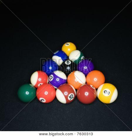 Billiard Balls in Triangle