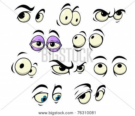 Cartoon eyes with different expressions