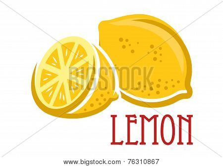 Lemon fruit symbol