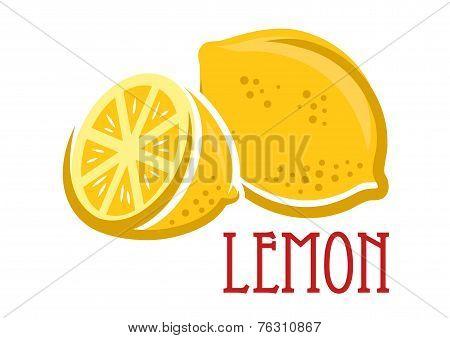 Lemon fruit symbol