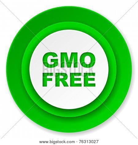 gmo free icon, no gmo sign