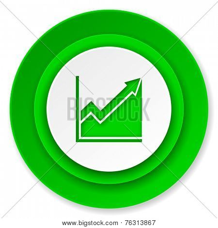 histogram icon, stock sign