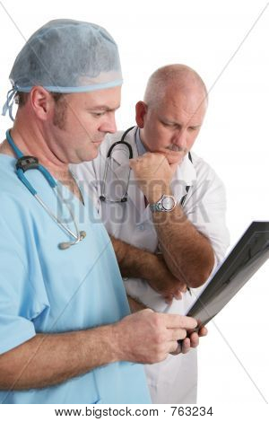 Concerned Doctors with Xrays