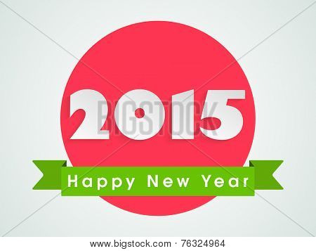 Beautiful sticker, tag or label with stylish text for Happy New Year celebrations.
