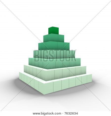 A pyramid of cubes - a 3d image