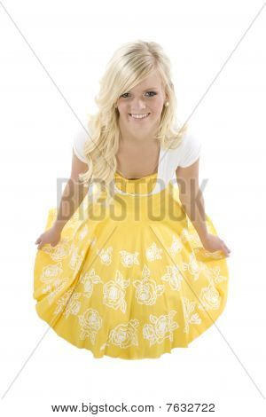 Girl With Yellow Dress High View