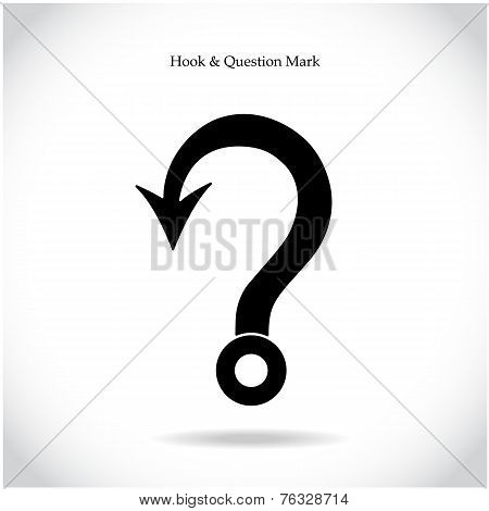 Fishing Hook Question Mark Sign