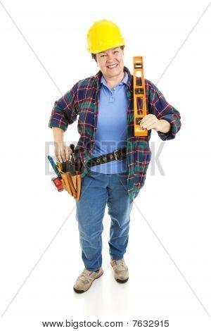 Cheerful Construction Woman