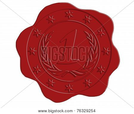 Vector First Place Red Wax Seal