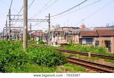 Rails und Oberleitung