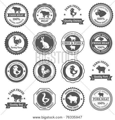 Meat labels set