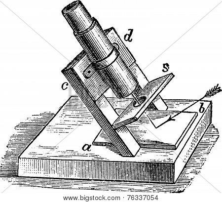 Polariscope, Vintage Engraving