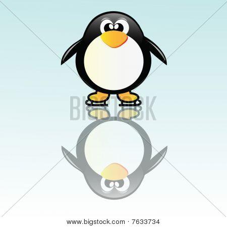 Penguin On Skate