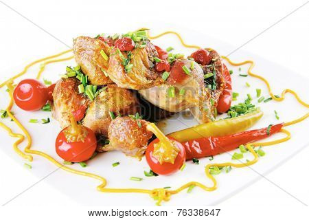 beef meat main course with red hot pepper