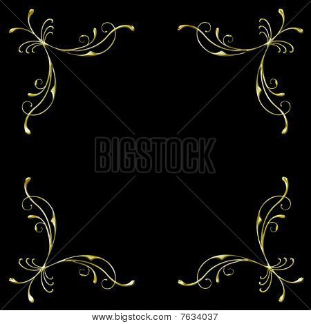 golden corners vector
