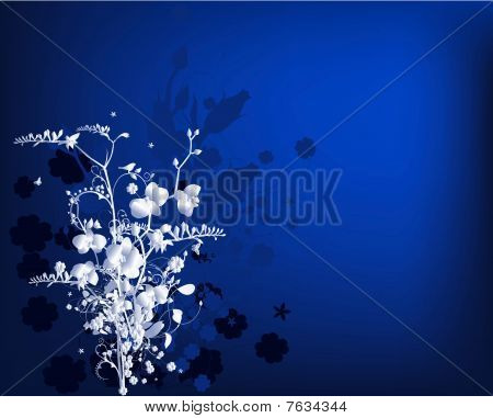 Stylized bouquet with freesia and orchids