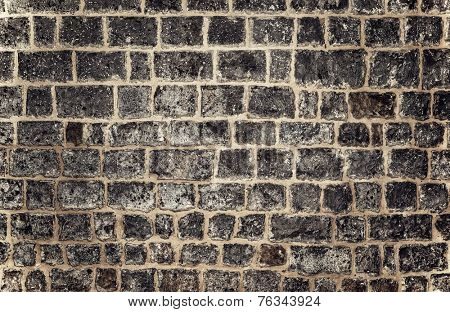 Abstract brick background, beautiful gray brickwork wallpaper, stylish design of house exterior, modern architecture concept