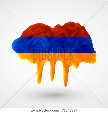Armenian flag painted colors